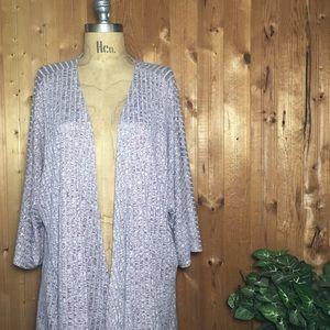 LuLaroe Lindsey kimono stripe maroon gray